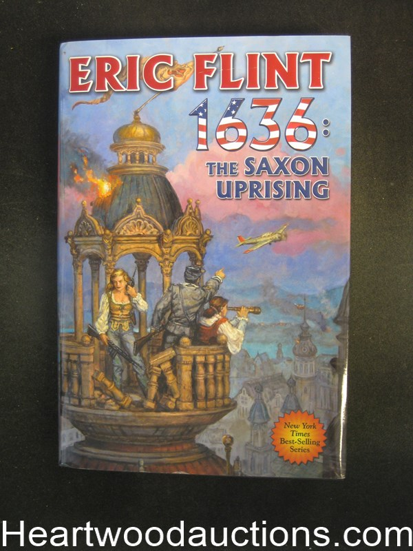 1636: The Saxon Uprising by Eric  Flint Signed