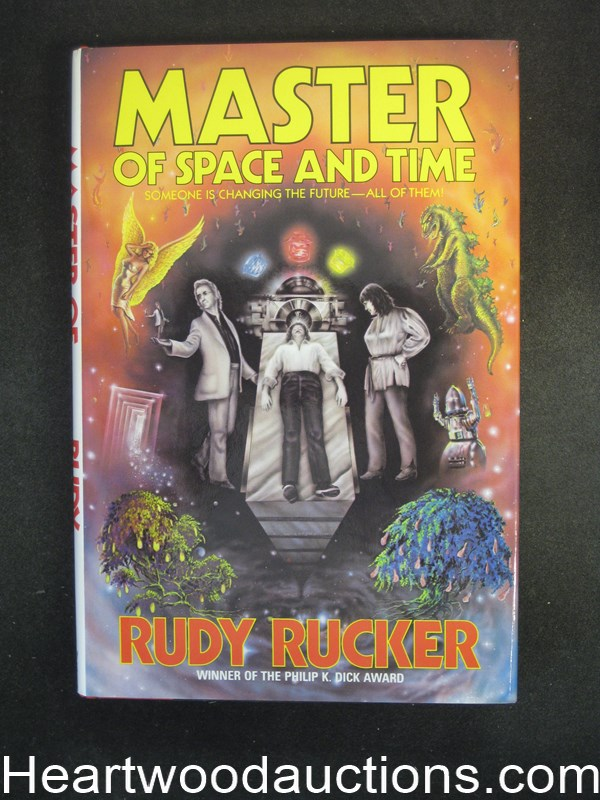 Master of Space and Time by Rudy Rucker Unread Copy.- High Grade