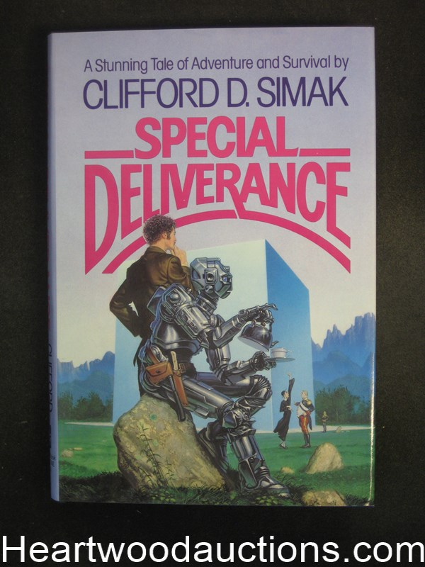 Special Deliverance by Cilfford D. Simak Unread Copy Whelan Cover- High Grade