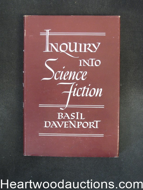 Inquiry into Science Fiction by Basil Davenport- High Grade