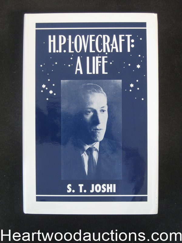 H. P. Lovecraft A Life by S. T. Joshi (Signed)- High Grade
