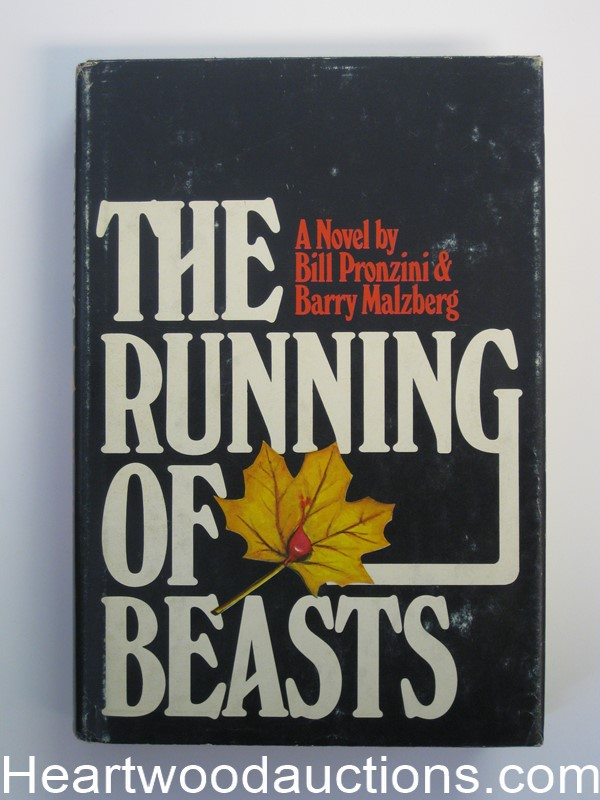 The Running of Beasts by Bill Pronzini (Signed and inscribed)