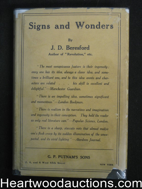 Signs And Wonders by J.D. Beresford