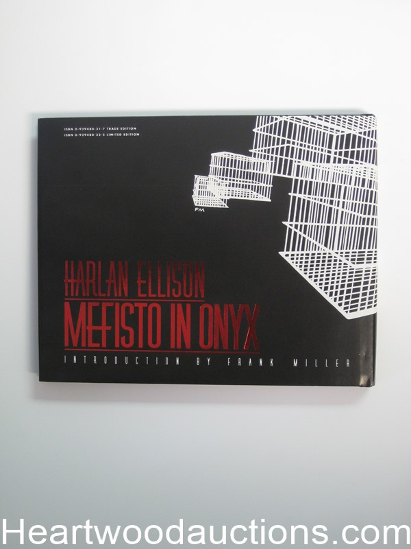 Mefisto In Onyx by Harlan Ellison Unread Copy