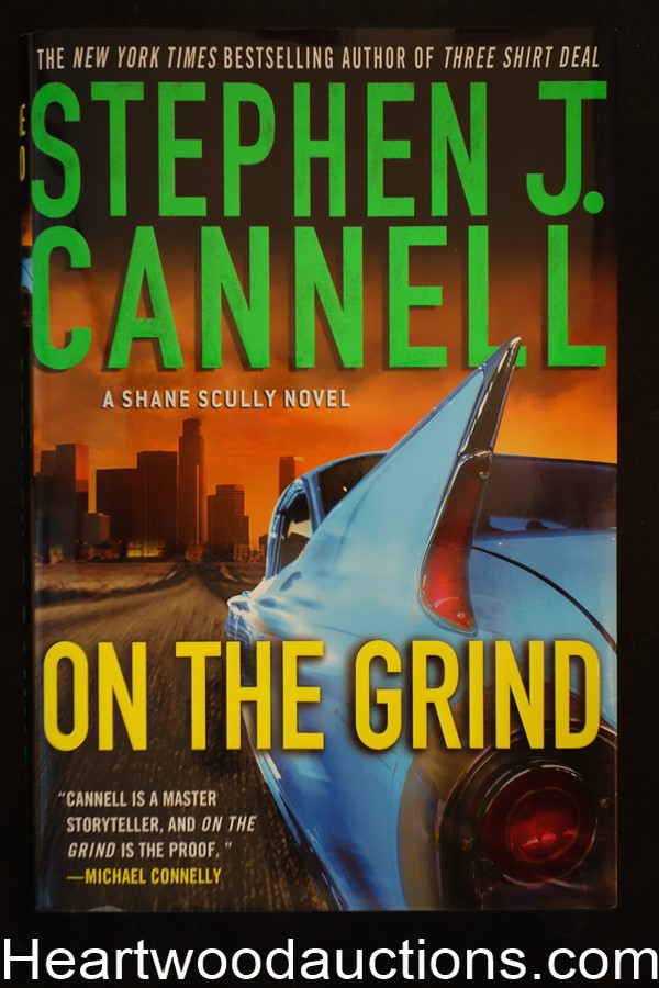 On The Grind by Stephen J. Cannell Unread Copy