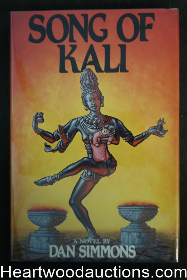 Song of Kali by Dan Simmons (1986) First edition w/dj.- High Grade