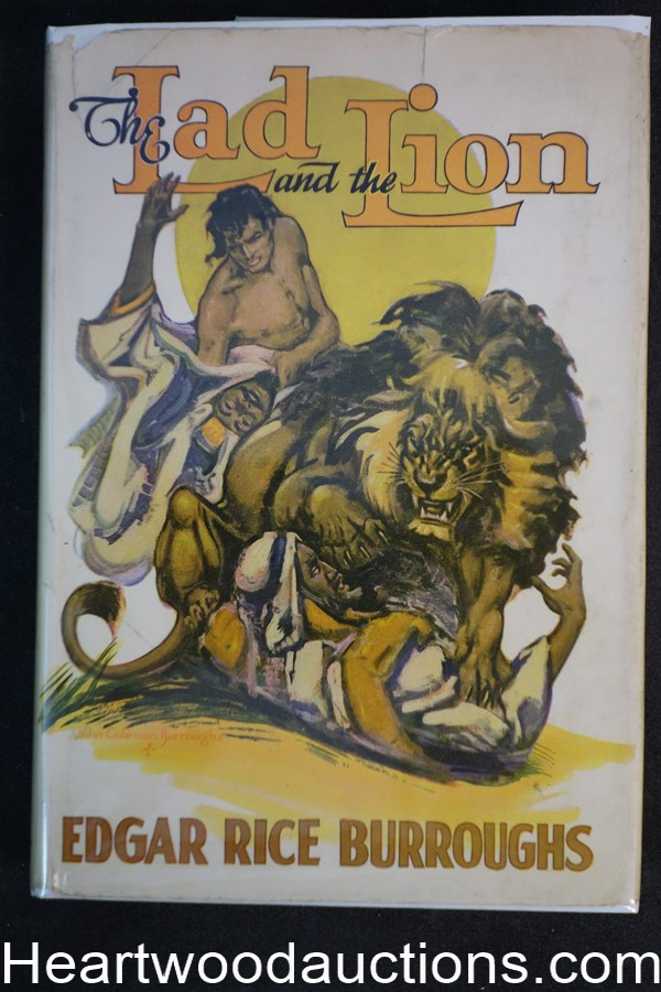 The Lad and the Lion by Edgar Rice Burroughs 1st ed., John Coleman Burroughs art