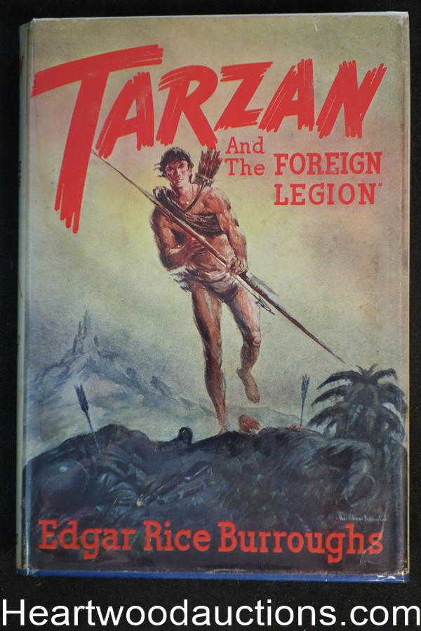 Tarzan and the Foreign Legion by Edgar Rice Burroughs 1st edition in dustjacket