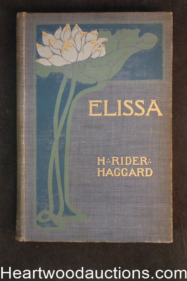 Elissa by H. Rider Haggard 1st U.S. Edition, art by Charles Kerr, F. H. Townsend