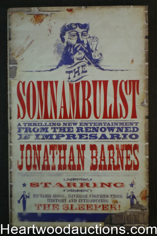 The Somnambulist by Jonathan Barnes (2007) First Edition- High Grade
