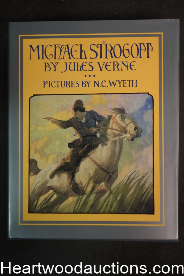 Michael Strogoff by Jules Verne (1997) N.C. Wyeth color illustrations- High Grade