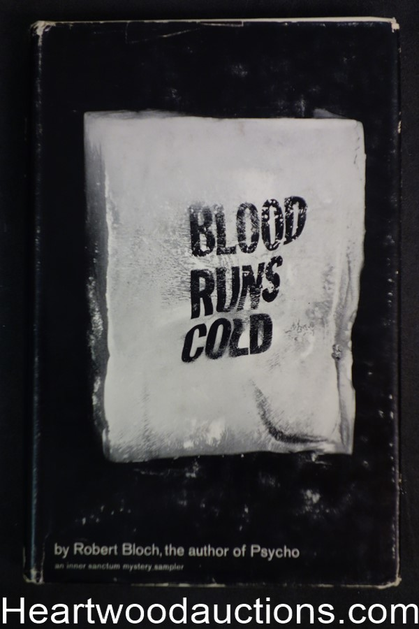 Blood Runs Cold by Robert Bloch (1961) Inner Sanctum Mystery edition
