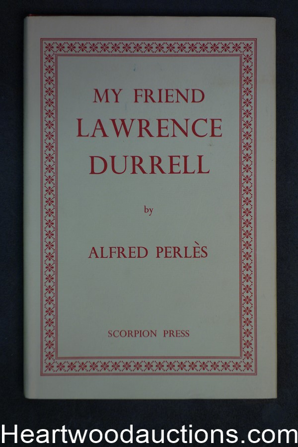 My Friend Lawrence Durrell by Alfred Perles (First Edition)- High Grade