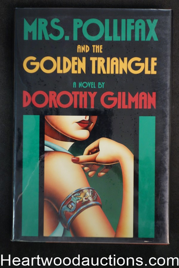 Mrs. Pollifax and the Golden Triangle by Dorothy Gilman (1988) 1st edition with DJ- High Grade