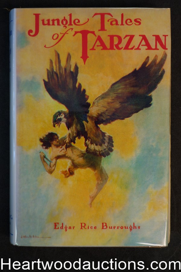 Jungle Tales of Tarzan by Edgar Rice Burroughs First, Fax DJ, J. Allen St. John Art