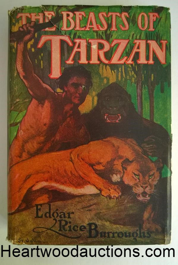 The BEASTS of TARZAN by Edgar Rice Burroughs FIRST J. Allen St. John Cover Art
