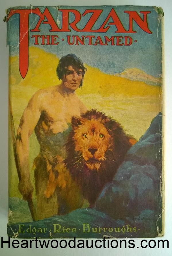 TARZAN the UNTAMED by Edgar Rice Burroughs 1921 J. Allen St. John Cover Art