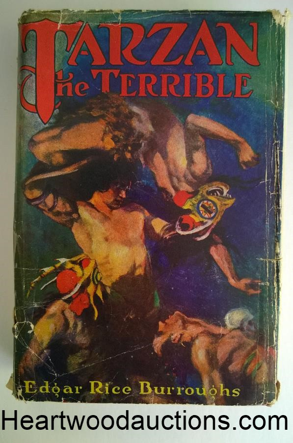 TARZAN the TERRIBLE by Edgar Rice Burroughs FIRST J. Allen St. John Cover Art