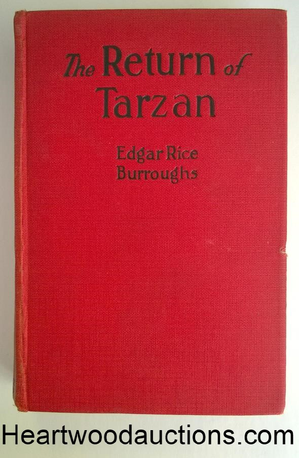 The RETURN of TARZAN by Edgar Rice Burroughs  J. Allen St. John Art