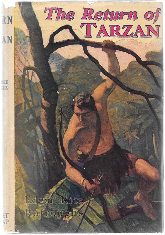 The RETURN of TARZAN by Edgar Rice Burroughs N. C. Wyeth, St.John
