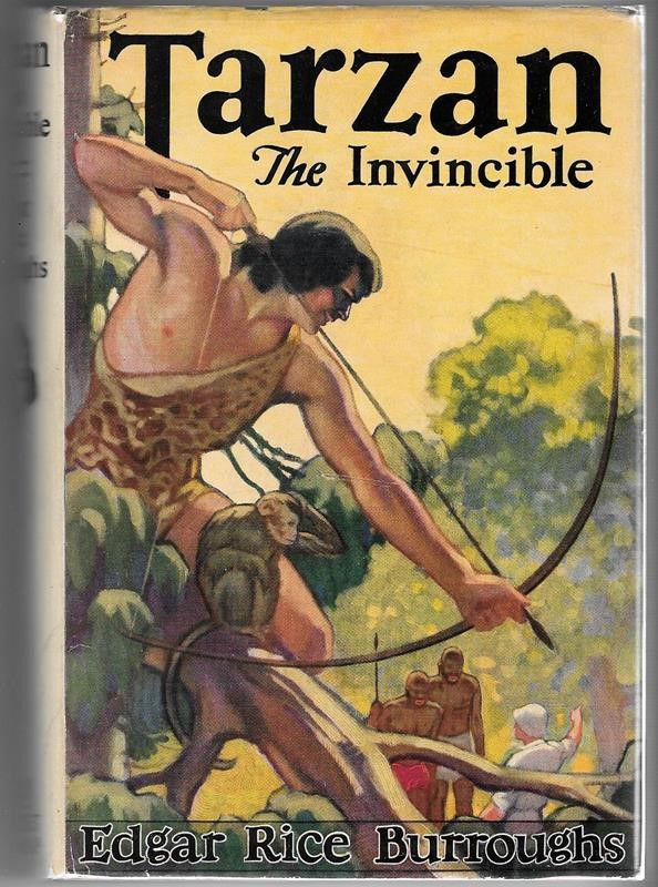 Tarzan the Invincible by Edgar Rice Burroughs  Studley Burroughs Art- High Grade