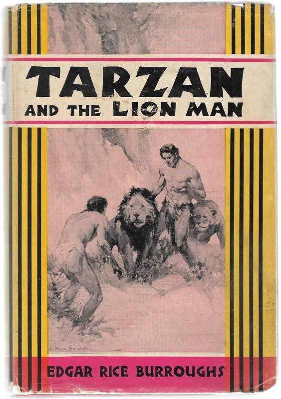 TARZAN and the LION MAN by Edgar Rice Burroughs  J. Allen St. John Art