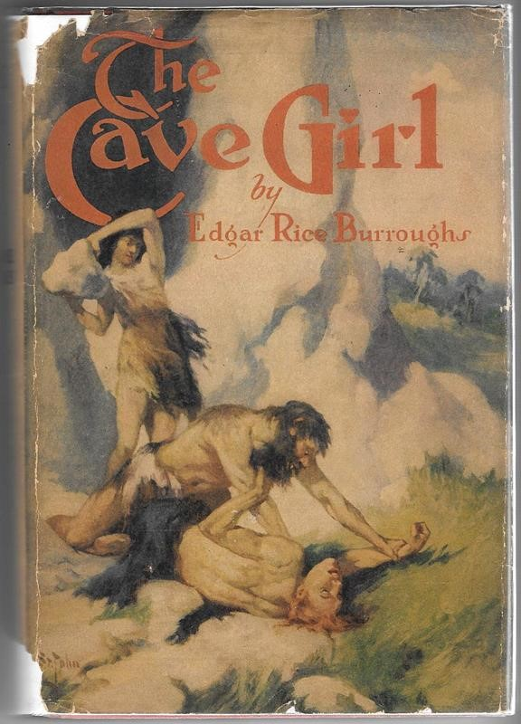 The CAVE GIRL by Edgar Rice Burroughs G&D J. Allen St. John Art