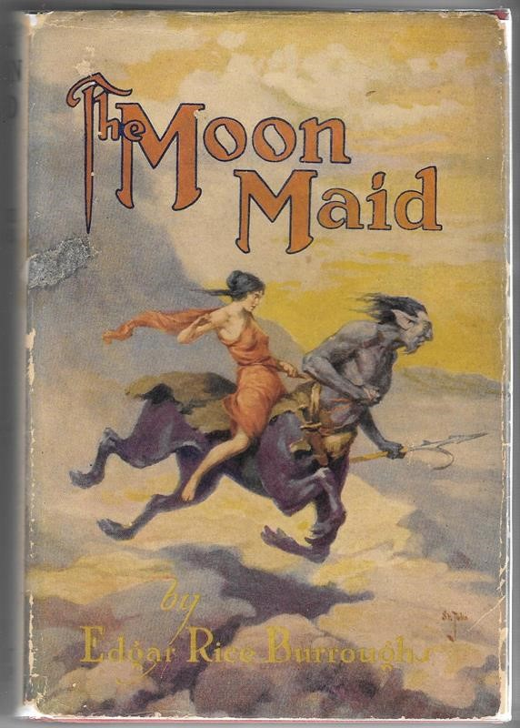 The MOON MAID by Edgar Rice Burroughs G&D J. Allen St. John Art