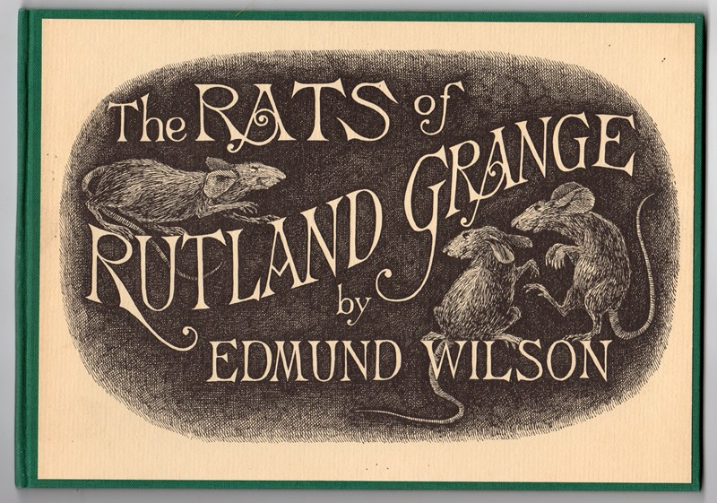 The Rats of Rutland Grange by Edmund Wilson Signed Limited