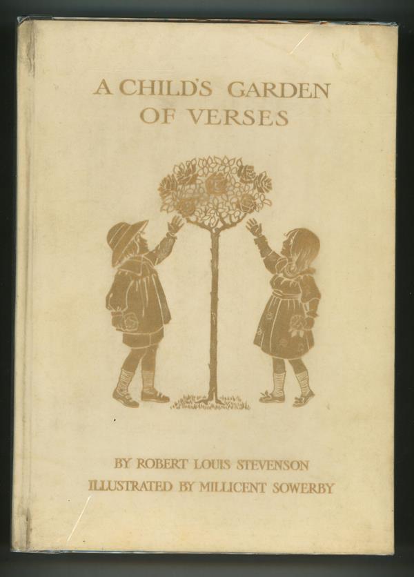 A Child 39 S Garden Of Verses By Robert Louis Stevenson 1908 Full Vellum Binding With Gilt