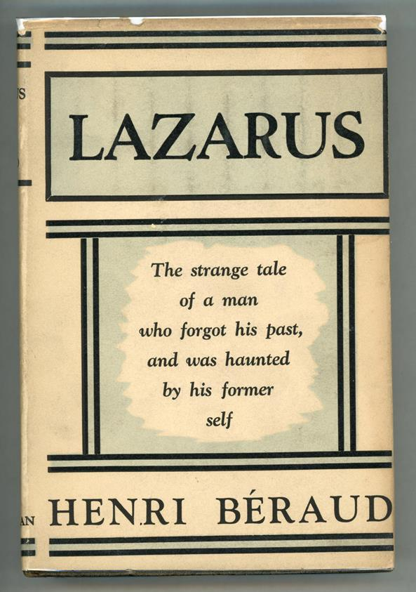 LAZARUS by Henri Beraud first Edition