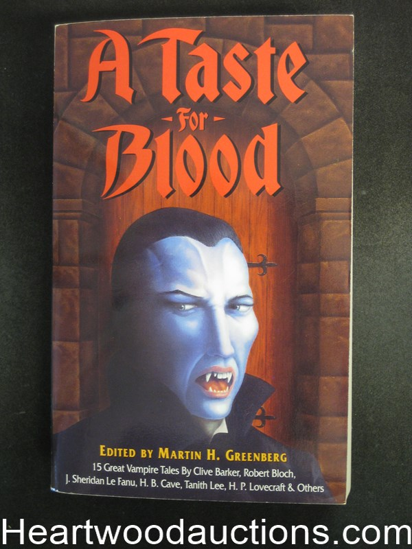 A Taste of Blood by Martin H. Greenberg R.E. Howard, Hp Lovecraft- High Grade