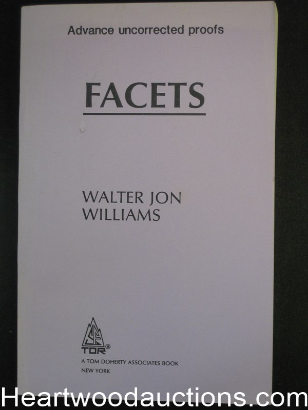 Facets by Walter Jon Williams uncorrected proofs (SOFTCOVER)