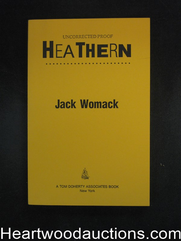 Heathern by Jack Womack (SOFTCOVER) uncorrected proofs- High Grade
