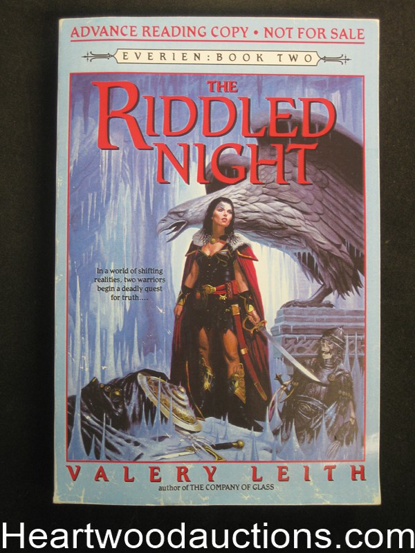 The Riddled Night by Valery Leith Advance reading Copy (SOFTCOVER)