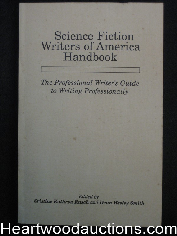 Science Fiction Writers Of America Handbook by Kristine Kathrine Rusch (SOFTCOVER)- High Grade