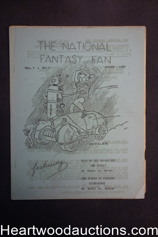 The National Fantasy Fan August 1948 Vol. 7 No. 4 Trip to Torcon for Two (Only)