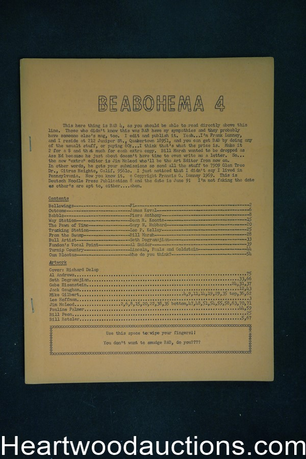 BeABohema 4 by  Dean Koontz rare Frank Lunney (editor/publisher) (SOFTCOVER)