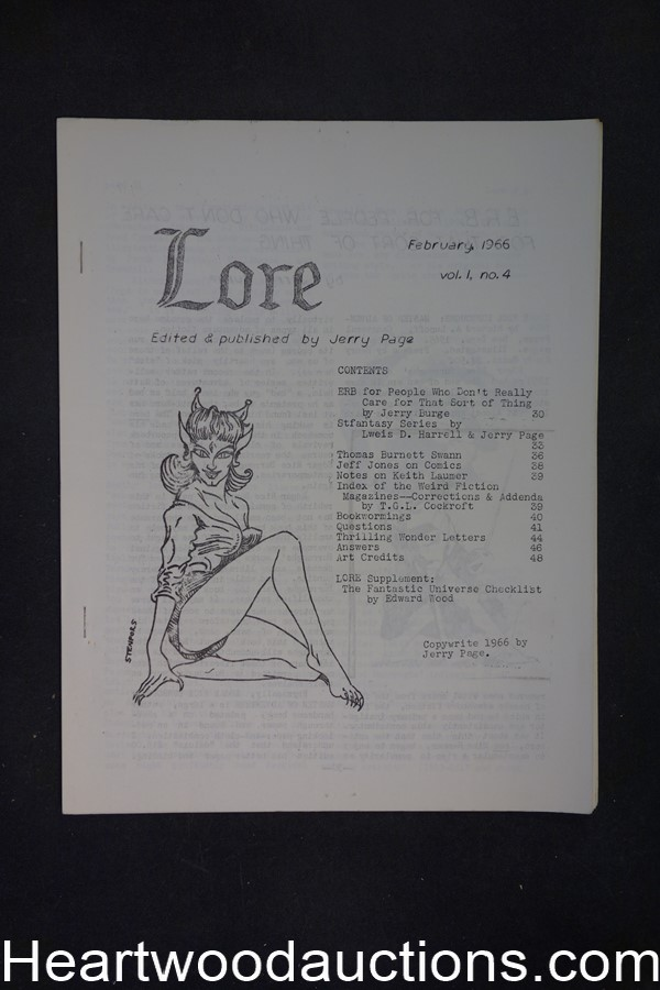 Lore by Jerry Page, #4  Jeff Jones (SOFTCOVER)