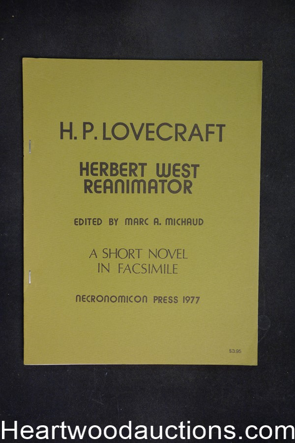 H.P. Lovecraft Herbert West Reanimator by Marc A. Michaud (SOFTCOVER)- High Grade