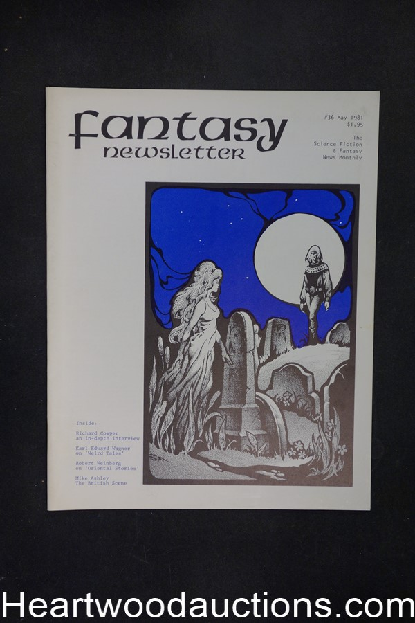 Fantasy Newsletter Vol. 4, No. 5, Whole #36 by Paul and Susan Allen (editor/Publisher) (SOFTCOVER)- High Grade