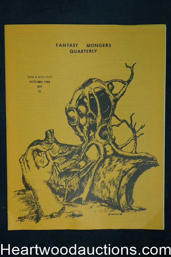 Fantasy Mongers Quarterly # 27 by W. Paul Ganley (editor/publisher) (SOFTCOVER)- High Grade
