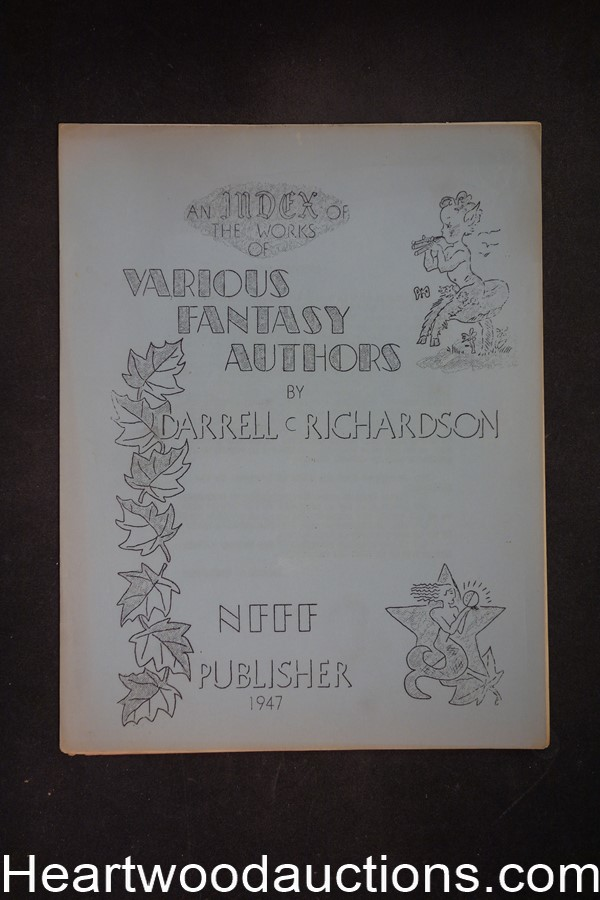 An Index of the Works of Various Fantasy Authors by Darrell C. Richardson (SOFTCOVER)