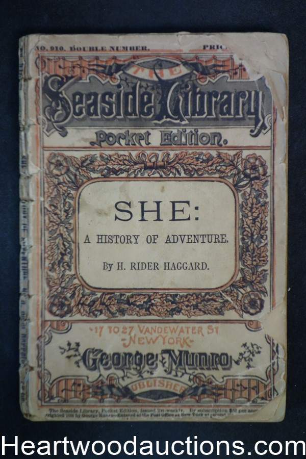 She: A History of Adventure by H. Rider  Haggard (SOFTCOVER)