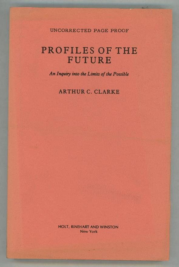 Profiles of the Future by Arthur C. Clarke (Proof)