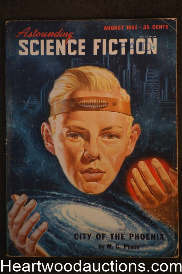 Astounding Science Fiction Aug 1951 Edd Cartier Art