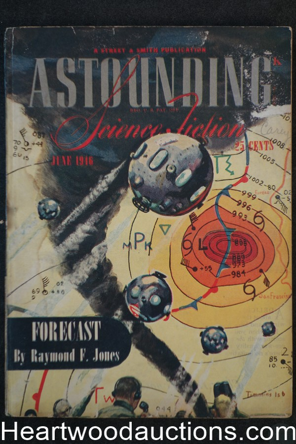 Astounding Science Fiction June 1946 Simak, Boucher, Jones, Sturgeon