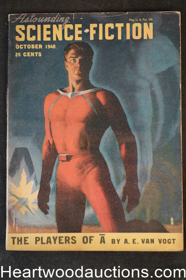 Astounding Science Fiction  Oct 1948 Edd Cartier Art, John D. MacDonald, , Hubert Rogers Cvr