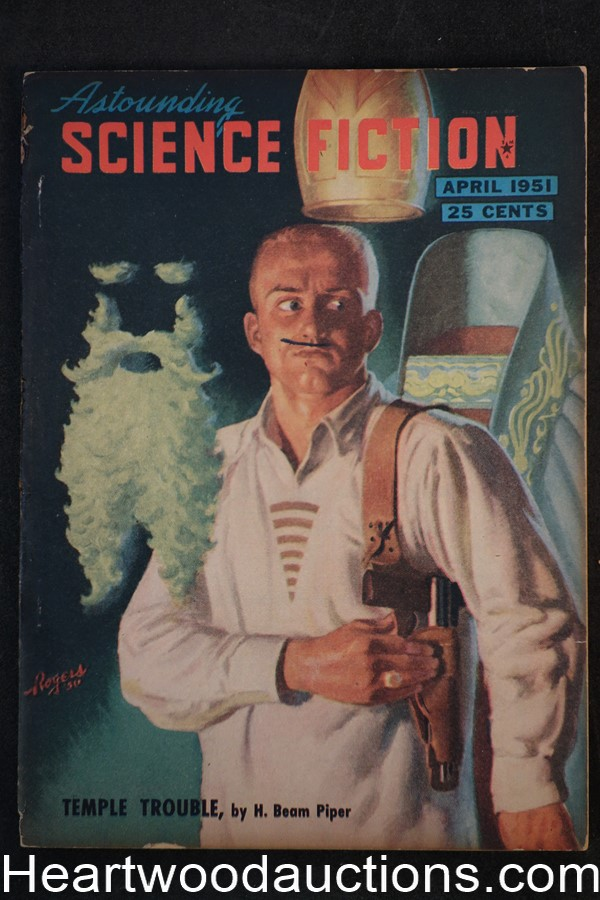 Astounding Science Fiction Apr 1951 Edd Cartier Art, Hubert Rogers Cvr