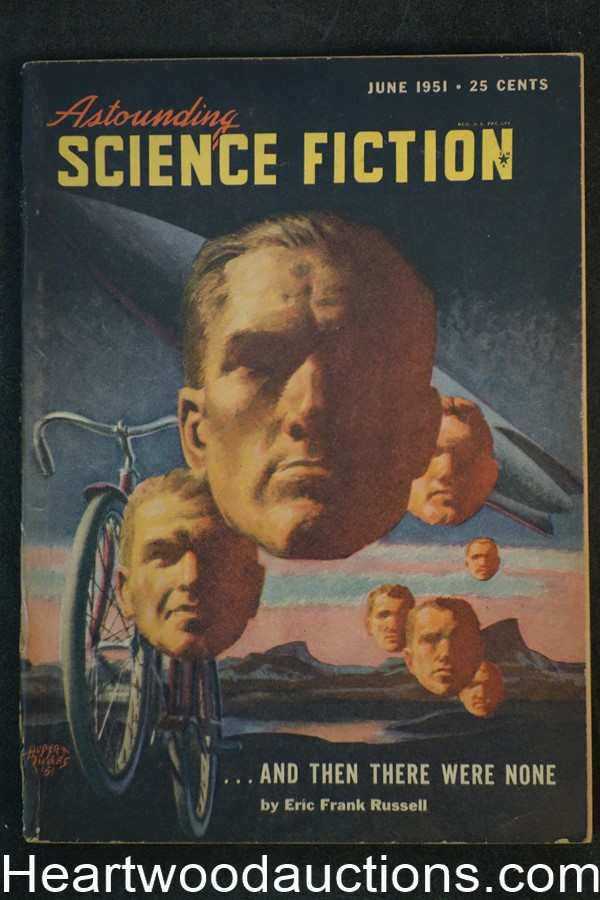 Astounding Science Fiction June 1951 Edd Cartier Art, Hubert Rogers Cvr